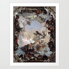 Giovanni Battista Tiepolo - Allegory of the Planets and Continents 1752 Art Print