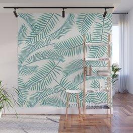 Palm Leaf Pattern Island Paradise Wall Mural