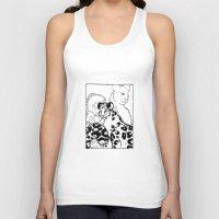 snow leopard Tank Tops featuring Snow Leopard by GlassEyeSpy