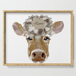 Cow with Love Hat Serving Tray