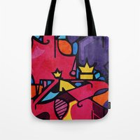 crown Tote Bags featuring Crown by Arcturus