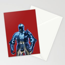 Blue Knight Stencil Stationery Cards
