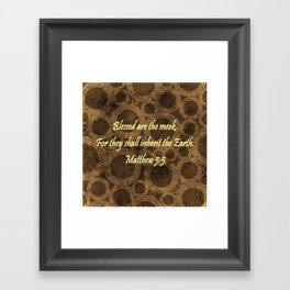 Matthew 5:5 Framed Art Print