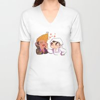 baking V-neck T-shirts featuring Baking together by AMC Art