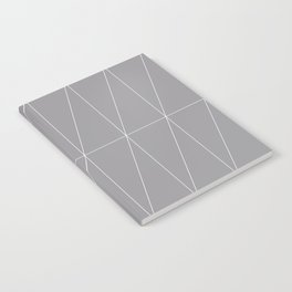 Grey Triangles by Friztin Notebook