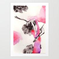 ballet Art Prints featuring ballet by Ludmila Vilarinhos
