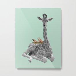 GIRAFFE (animals collection) Metal Print