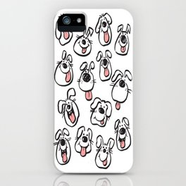 Happy Dog Faces iPhone Case