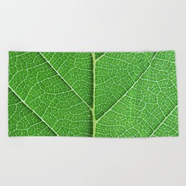 Green Vein Life Beach Towel