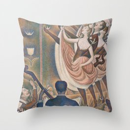 Georges Seurat - Le Chahut Throw Pillow