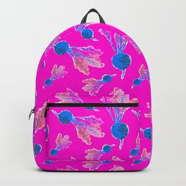 Feel the Beet in Electric Pink + Blue Backpack