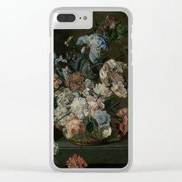 Cornelia Van Der Mijn - Still Life With Flowers, 1762 Clear iPhone Case