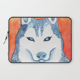 Blue Husky Laptop Sleeve