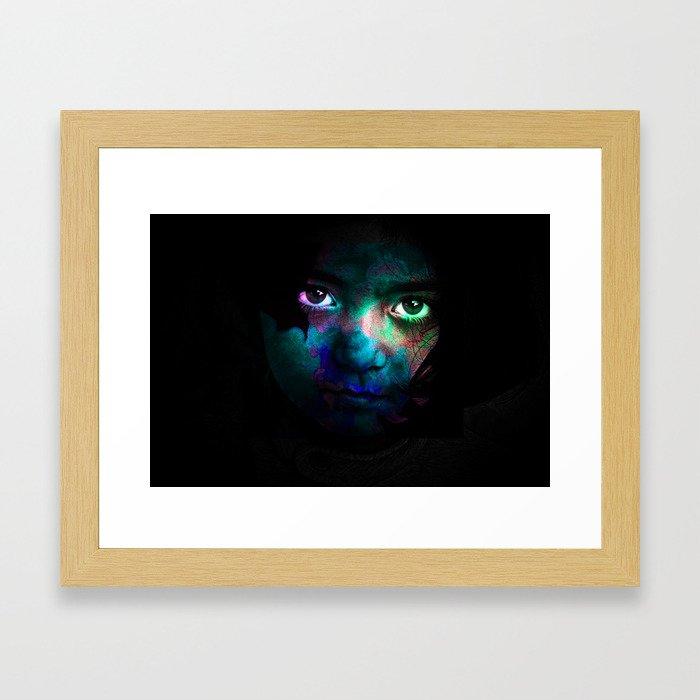 Colorful portrait Framed Art Print
