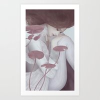 lily Art Prints featuring Lily by Jumei