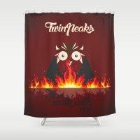 twin peaks Shower Curtains featuring Twin peaks by sgrunfo