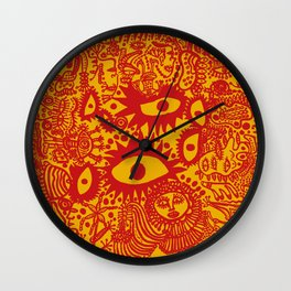 Yayoi Kusama - Feeling Happy Out In The Field Wall Clock