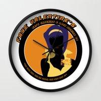 cowboy bebop Wall Clocks featuring Bebop Faye by AngoldArts