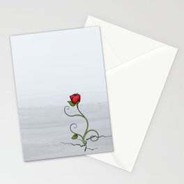 The Rose that Grew from Concrete Stationery Cards