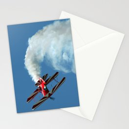 Spinning Biplane Stationery Cards