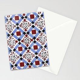 Portugal tile pattern Stationery Cards