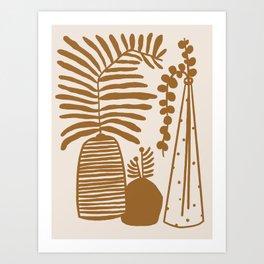 Mustard Plants Art Print