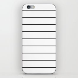 SKINNY STRIPE ((black on white)) iPhone Skin