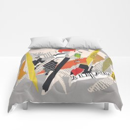 Multicolor collage ign Comforters