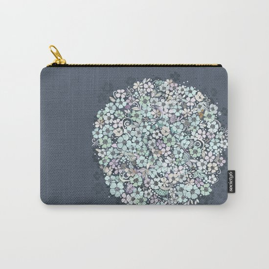 Flower Circle, mist blue Carry-All Pouch