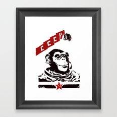 Soviet Space Monkey Framed Art Print