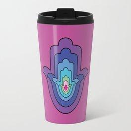 hamsa hand in spiritual colors Travel Mug
