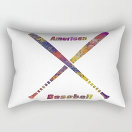 Baseball bats in watercolor 17 Rectangular Pillow
