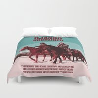 django Duvet Covers featuring Django Unchained Movie Poster  by FunnyFaceArt