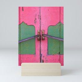 Pink door in Cozumel, Mexico Mini Art Print
