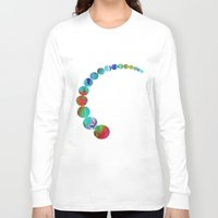 oriental Long Sleeve T-shirts featuring Oriental Happiness by Aloke Design