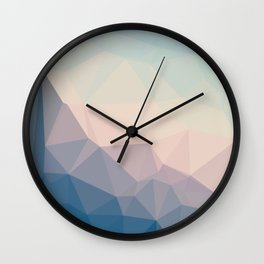 BE WITH ME - TRIANGLES ABSTRACT #PINK #BLUE #1 Wall Clock