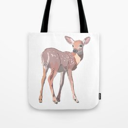 Baby Deer Art Tote Bag