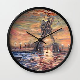 Colossus of Rhodes Greece Wall Clock