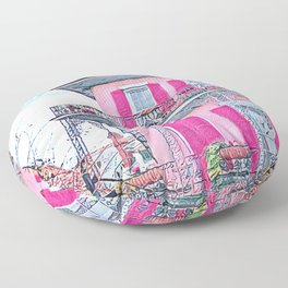Watercolor Pink New Orleans French Quarter Nola Home Floor Pillow