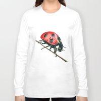 ladybug Long Sleeve T-shirts featuring Ladybug by Sam Luotonen