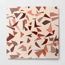Modern Terrazzo - Warm Tones Metal Print