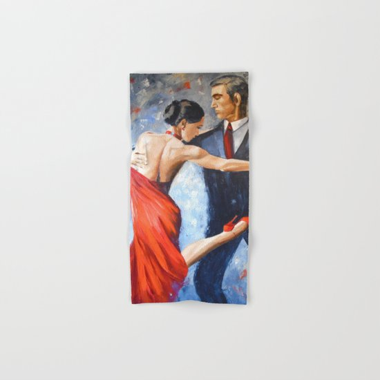 Argentine tango Hand & Bath Towel