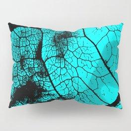 Aqua leaf Pillow Sham