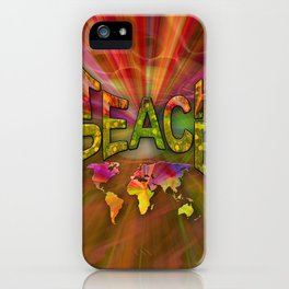 Teach Peace iPhone Case