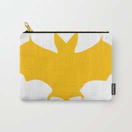 Orange-Yellow Silhouette Of a Bat  Carry-All Pouch