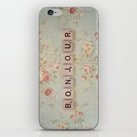 bonjour iPhone & iPod Skins featuring Bonjour by Christine Hall