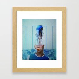 Jellyfish blue. Framed Art Print