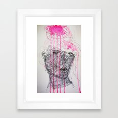 pink is the new black for xmas Framed Art Print