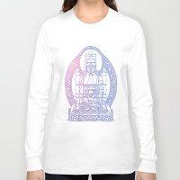 sacred geometry Long Sleeve T-shirts featuring Sacred Geometry 2 by Hazel Bellhop