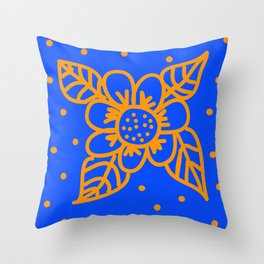 Two colors stamp Throw Pillow
